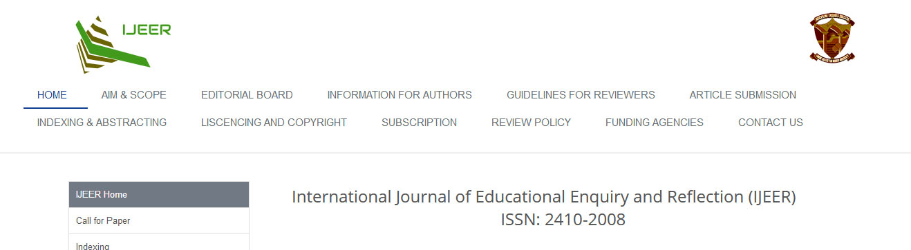 International Journal of Educational Enquiry and Reflection (IJEER)
